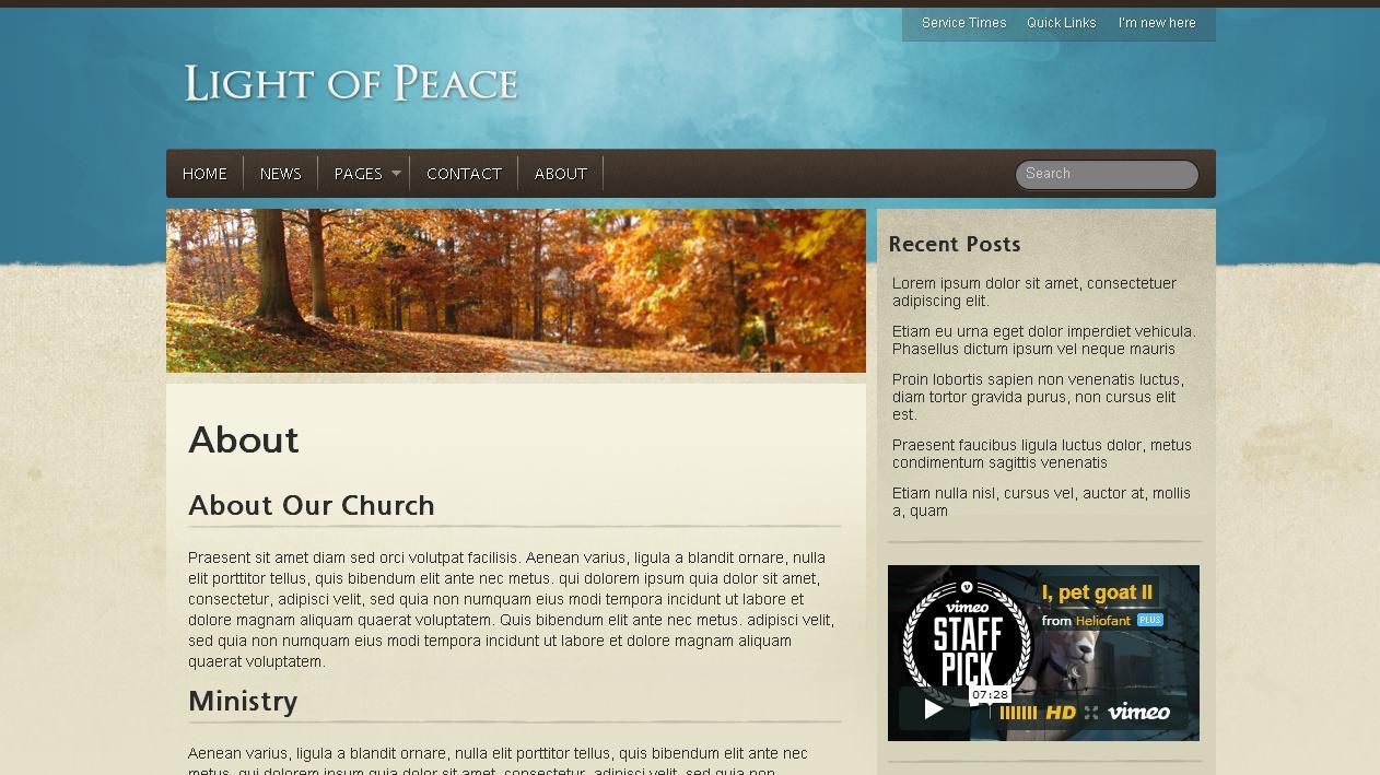 Best WordPress Church Template