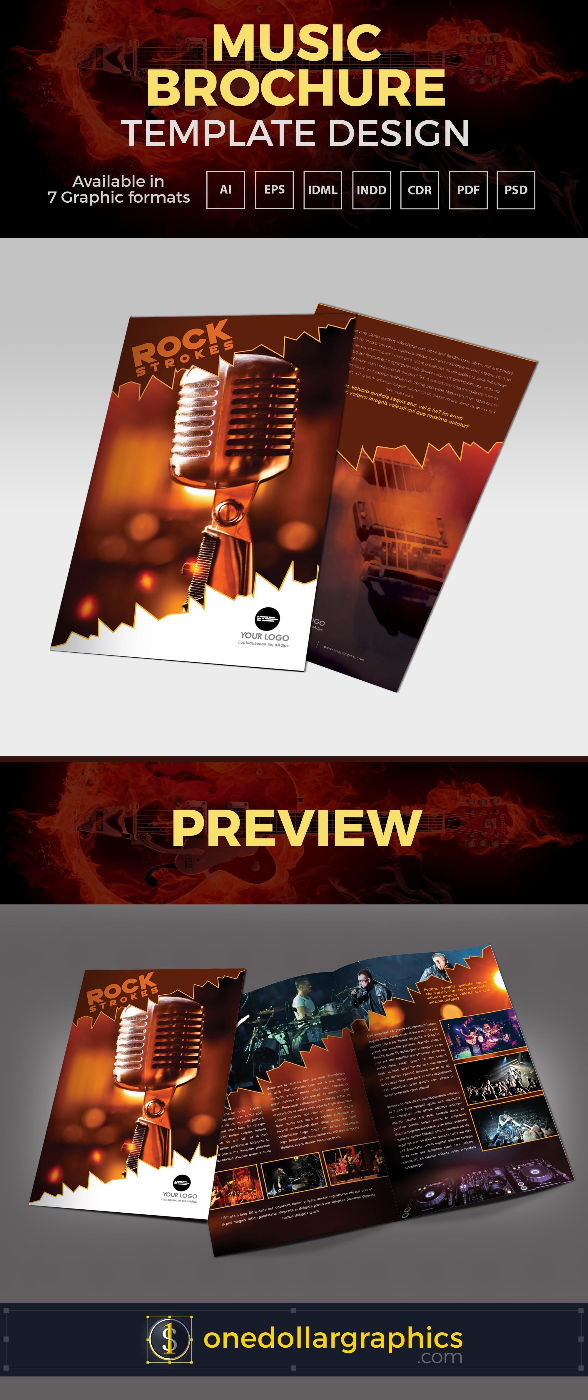 Bi Fold Brochure Template Ai