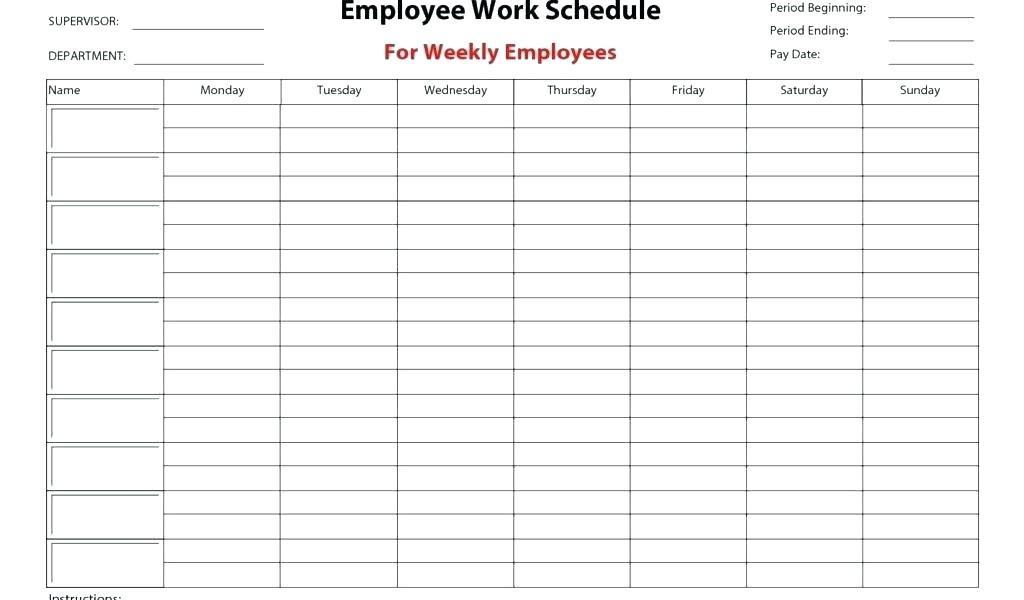 Bi Weekly Work Schedule Templates Free
