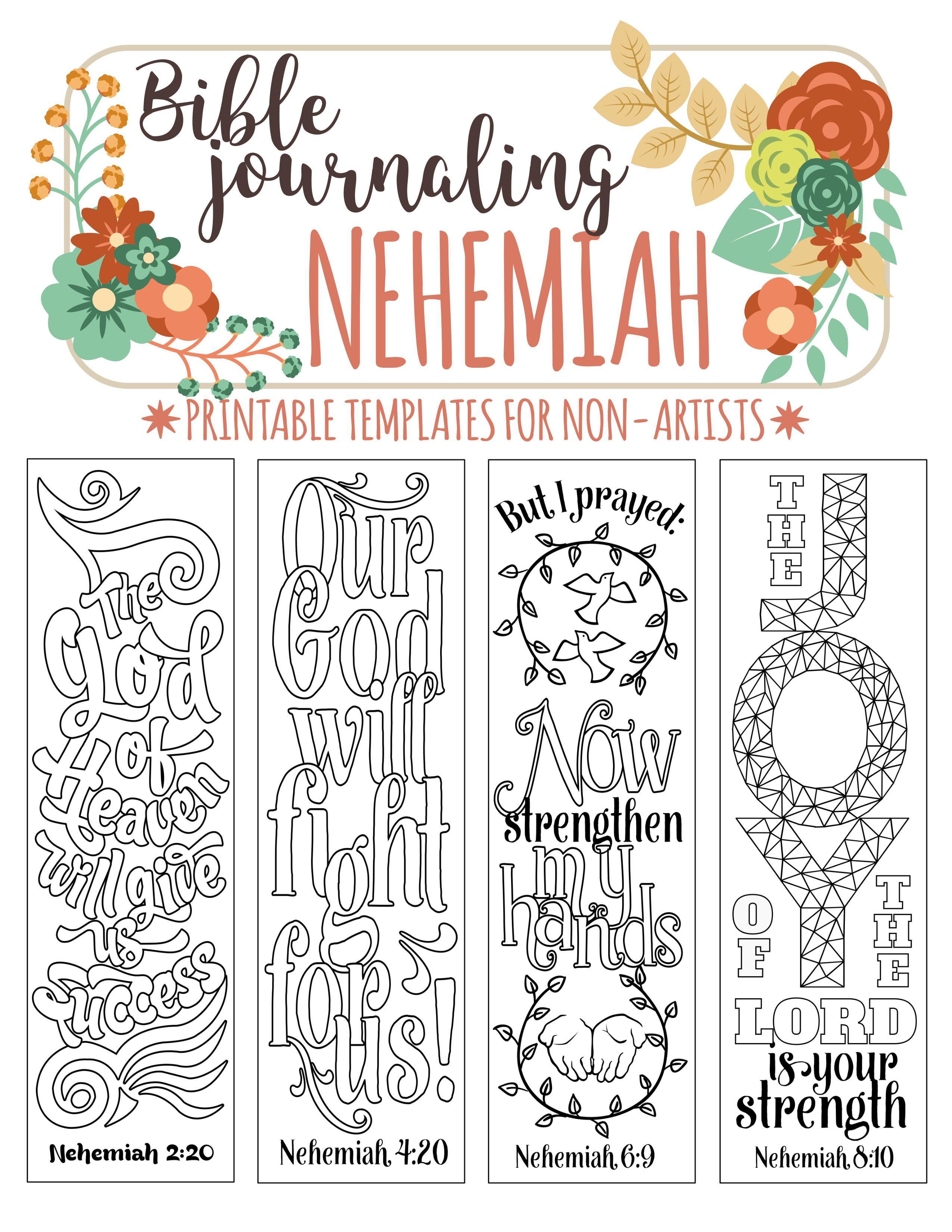 Bible Art Journaling Templates