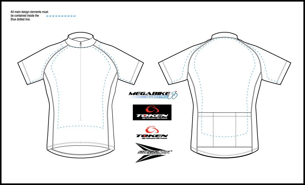 Bicycle Jersey Template Vector