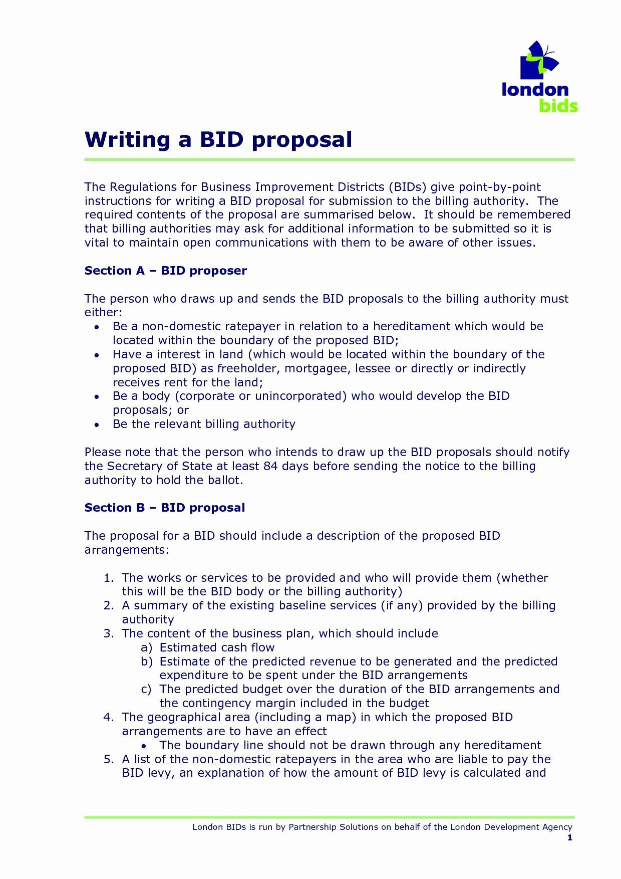Bid Proposal Template Doc