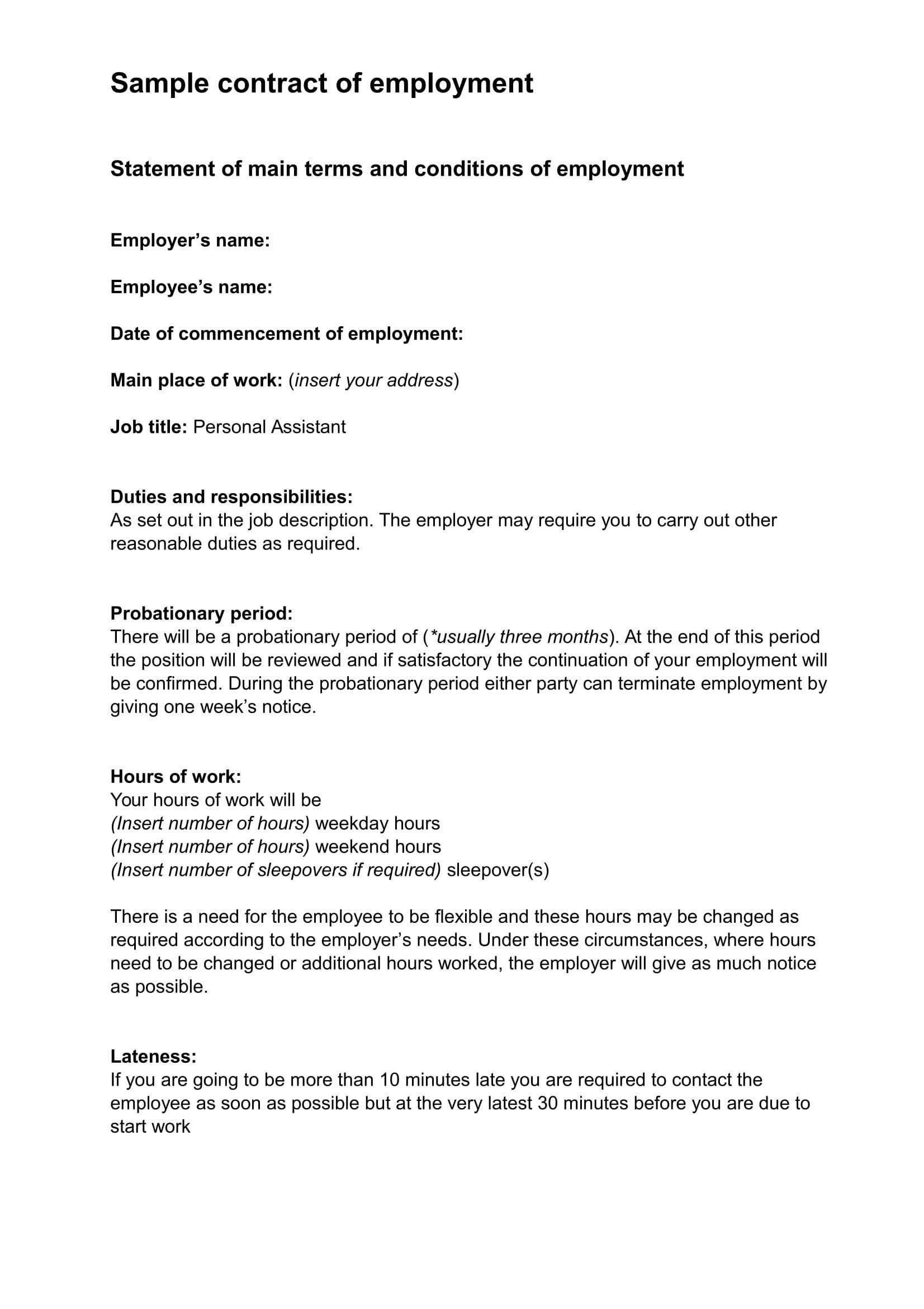 Binding Contract Example