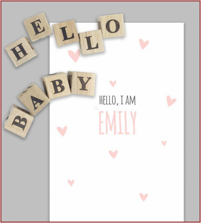 Birth Announcement Free Template Photoshop