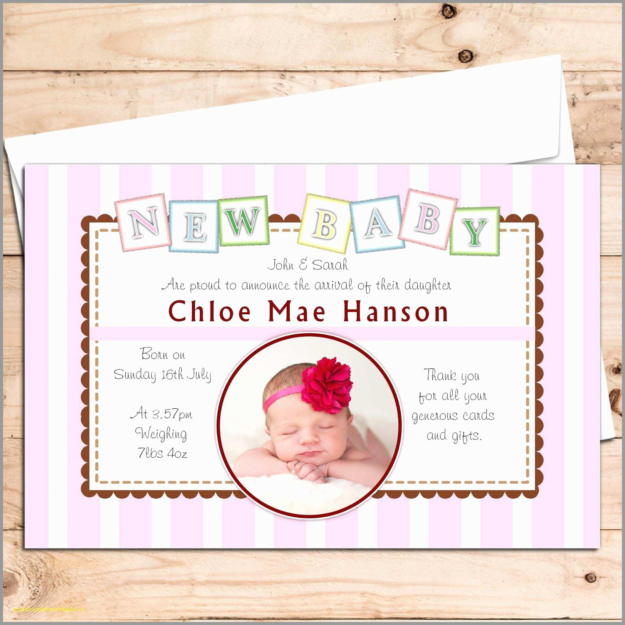 Birth Announcement Template Online