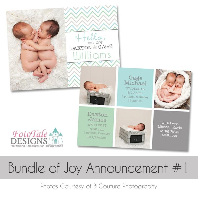 Birth Announcement Templates For Photographers