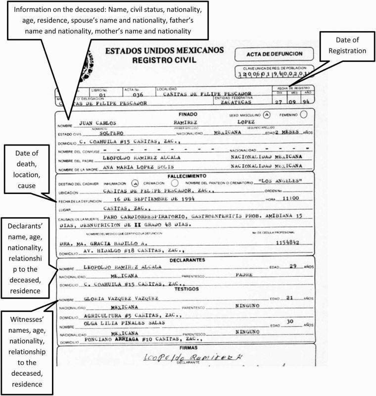 Birth Certificate Translation Template Spanish