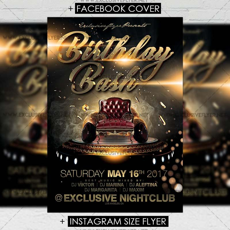 Birthday Bash Flyer Templates Psd Free