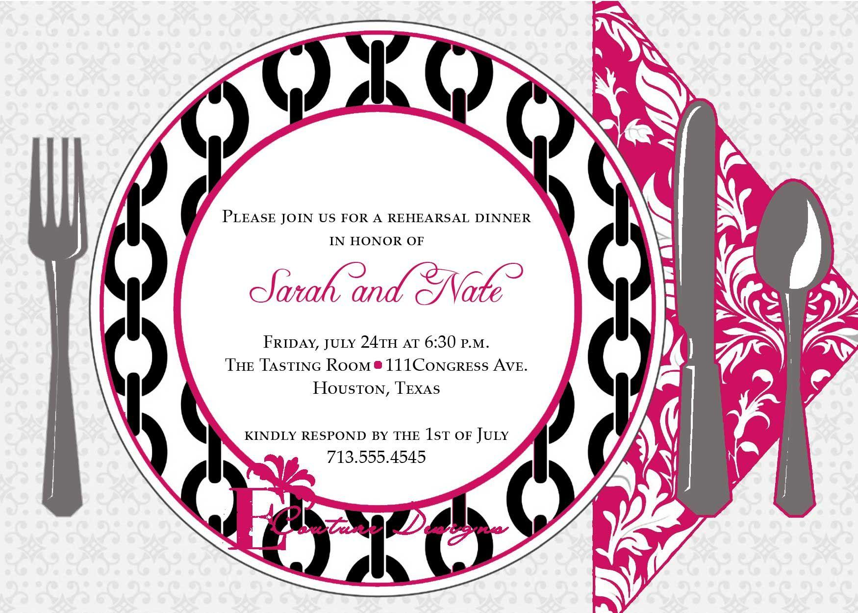 Birthday Dinner Invitation Sample
