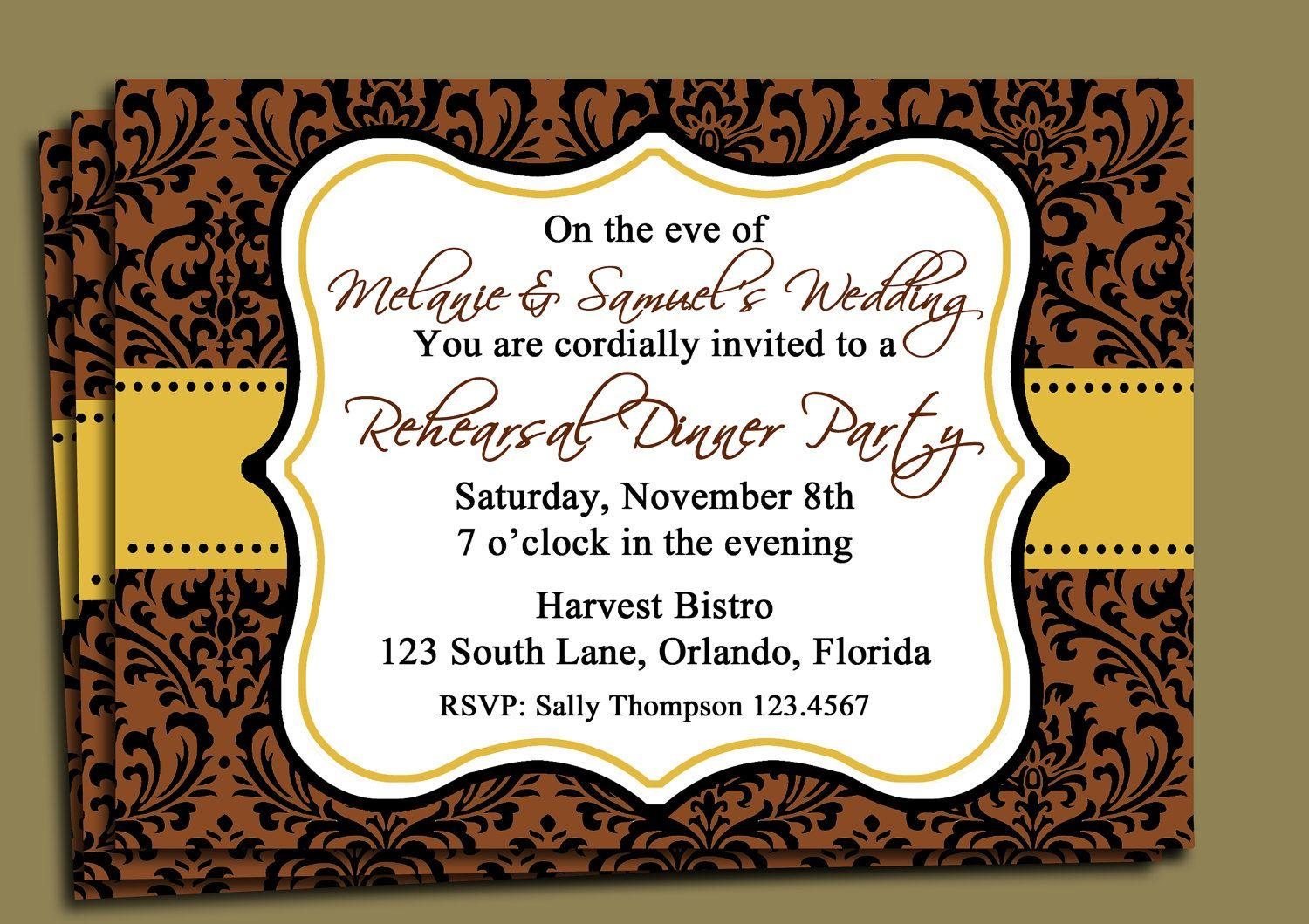 Birthday Dinner Invitation Templates