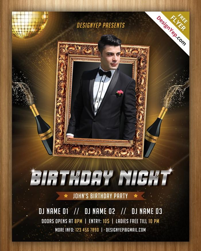 Birthday Invitation Flyer Template Free
