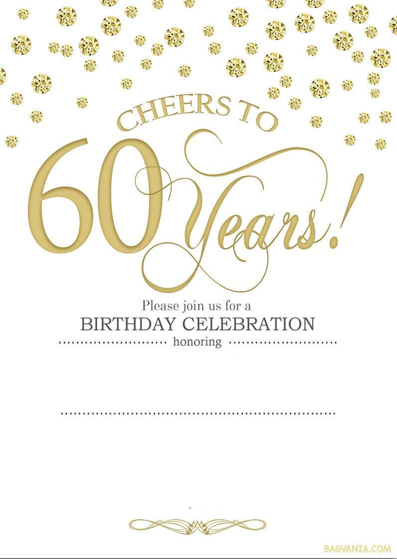 Birthday Invitation Templates 60th