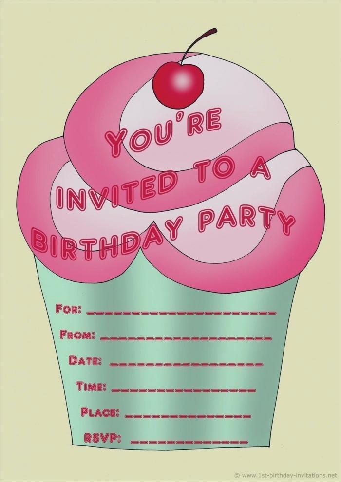 Birthday Invitation Templates For Teenage Girls