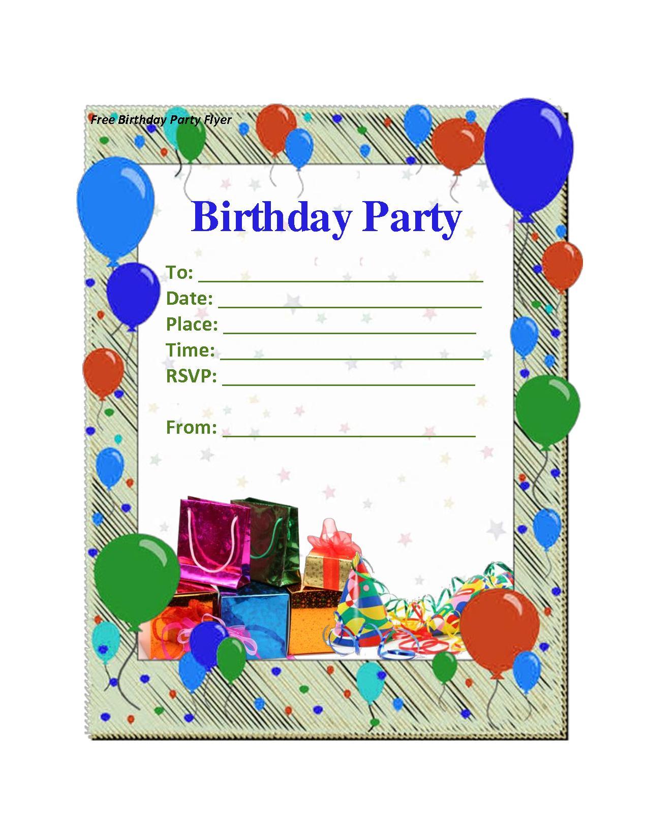 Birthday Invitation Templates Free Word