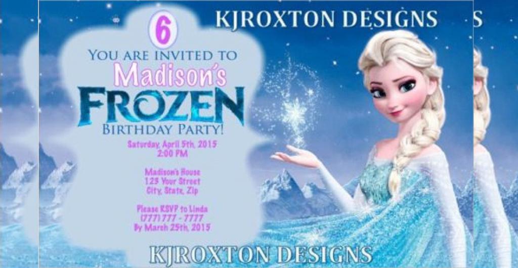 Birthday Invitation Templates Frozen