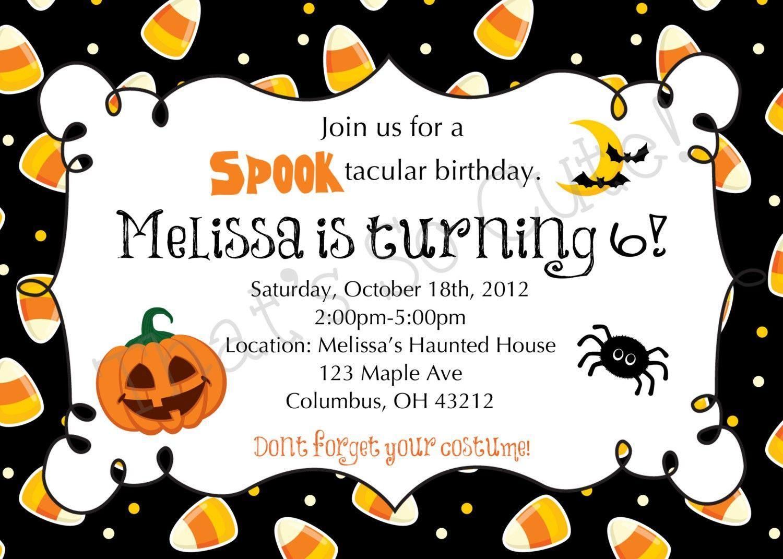 Birthday Invitation Templates Halloween