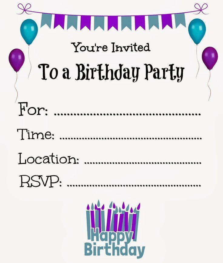 Birthday Invitation Templates Online Free