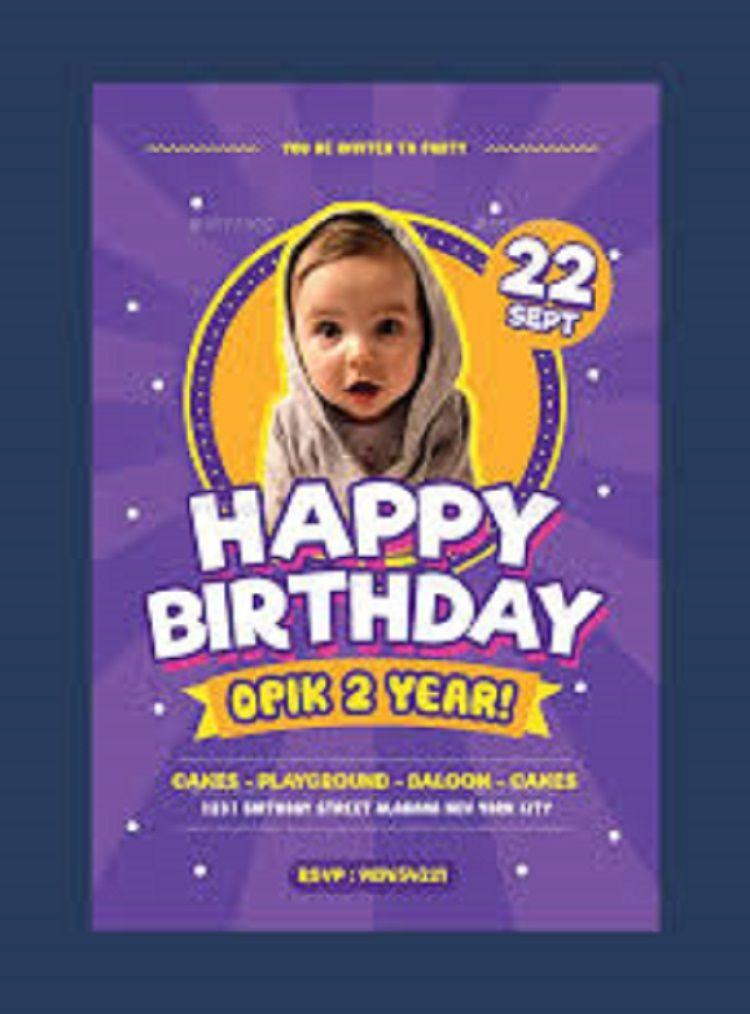 Birthday Invitation Templates Psd Free