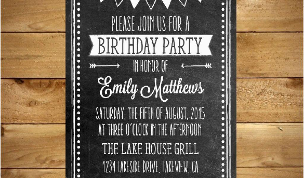 Birthday Invitation Templates Word Format