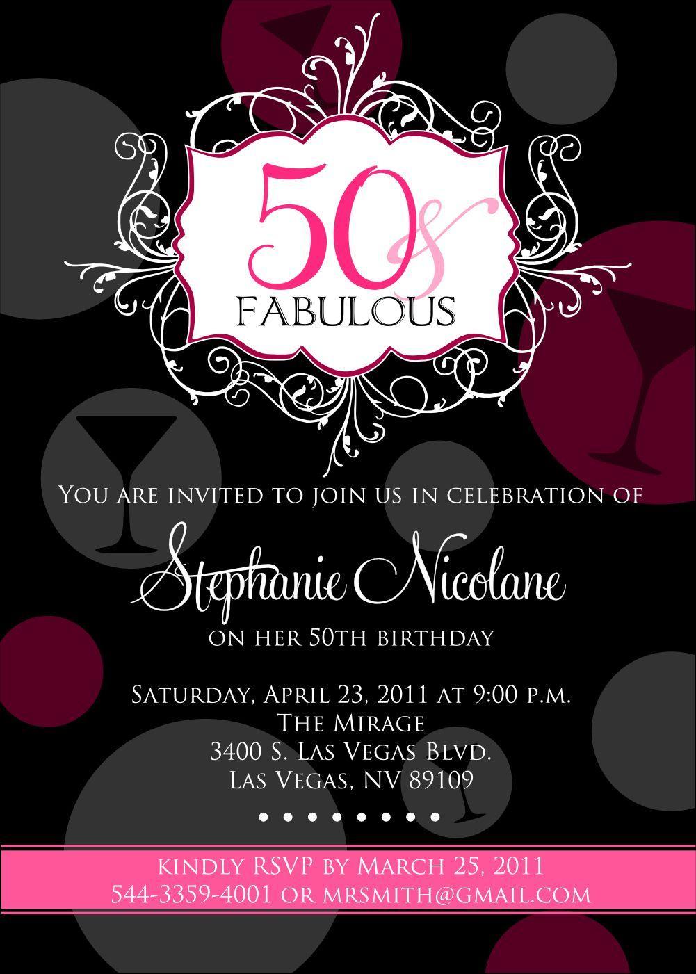 Birthday Invitations Templates 50th