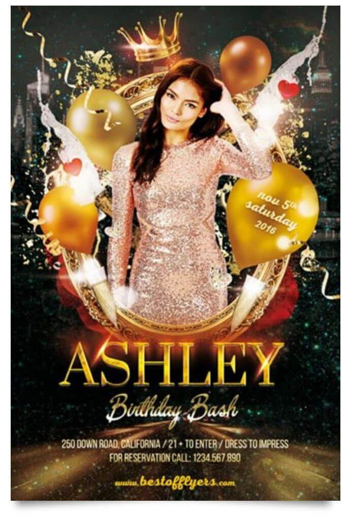 Birthday Party Flyer Templates Free