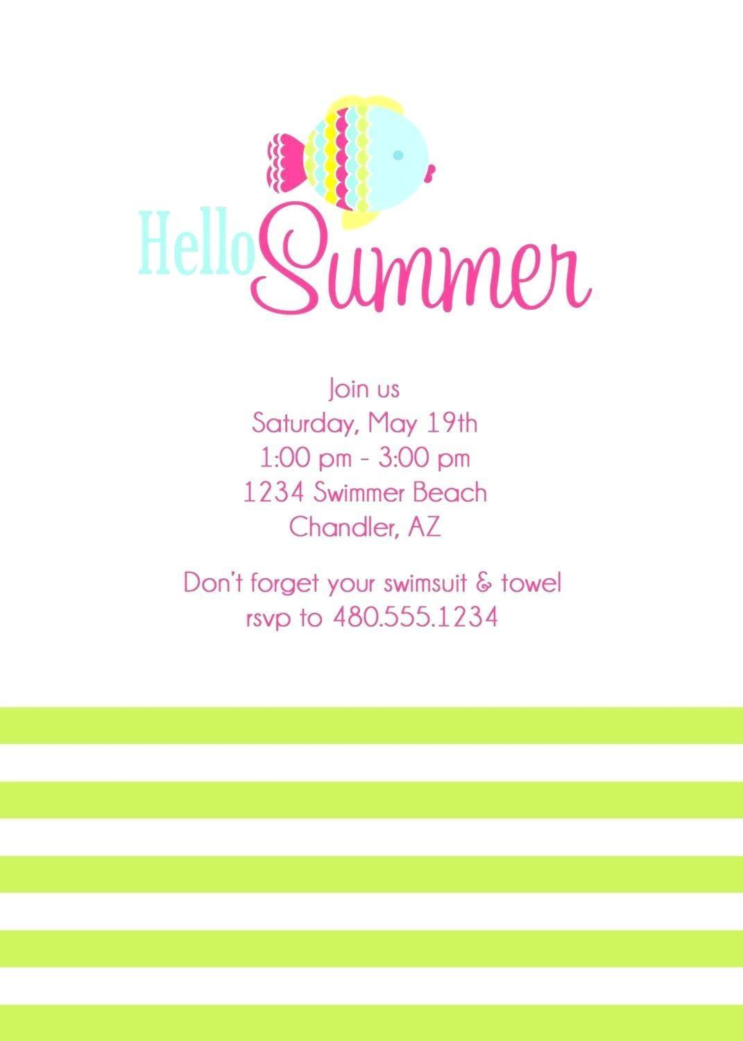 Birthday Party Invitation Template Ppt