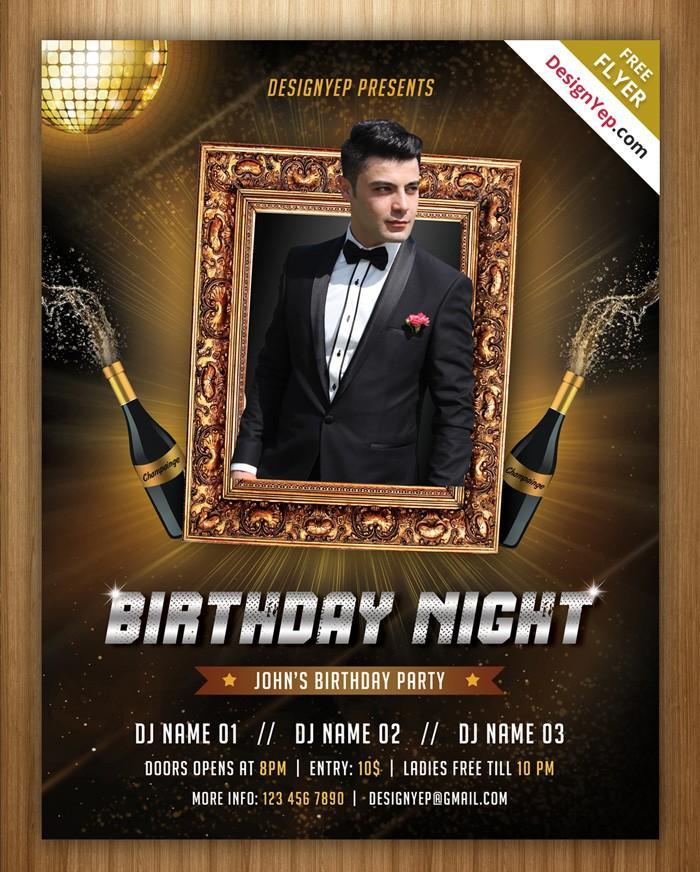 Birthday Party Invitation Template Psd