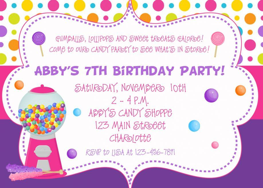 Birthday Party Invitation Templates Powerpoint