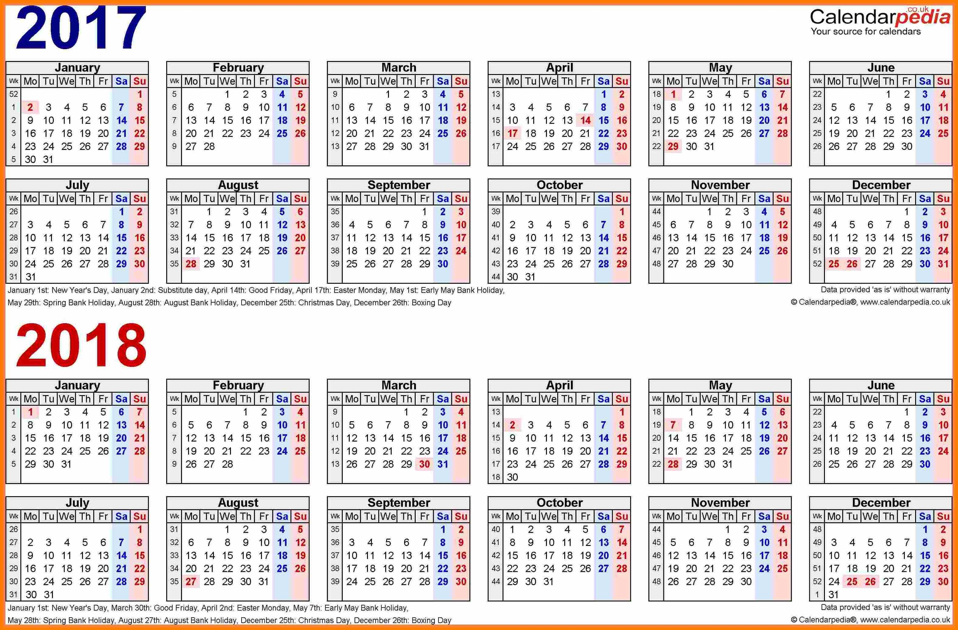 Biweekly Pay Schedule 2018 Template