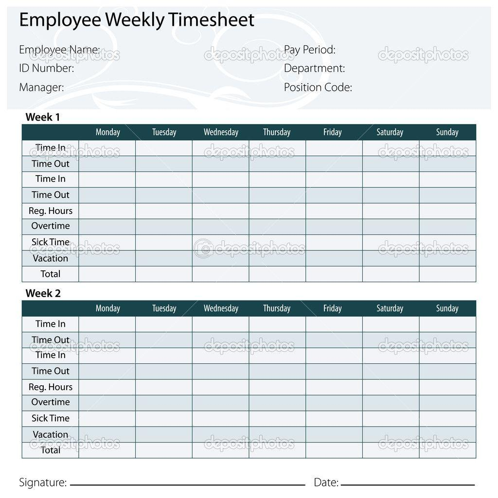 Biweekly Time Card Template Excel