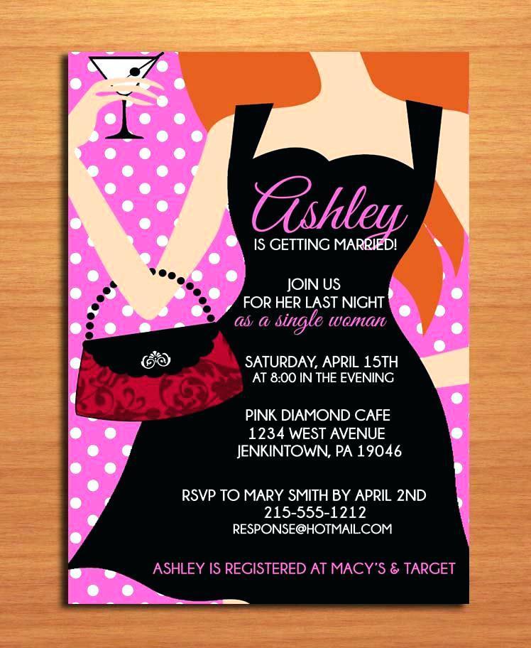 Black Dress Invitations Templates