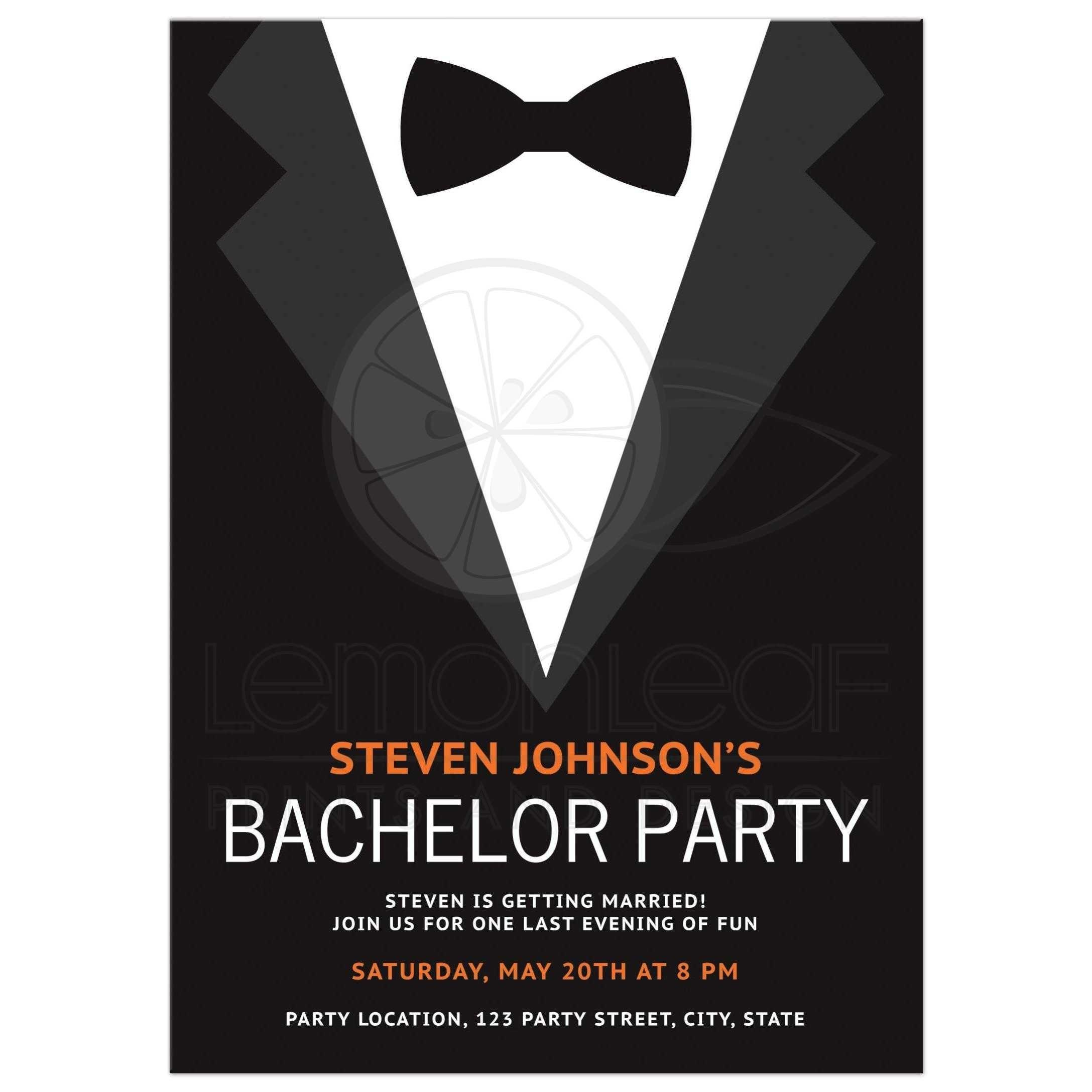 Black Tie Party Invitation Templates