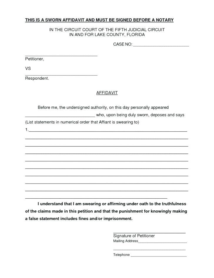 Blank Affidavit Template South Africa