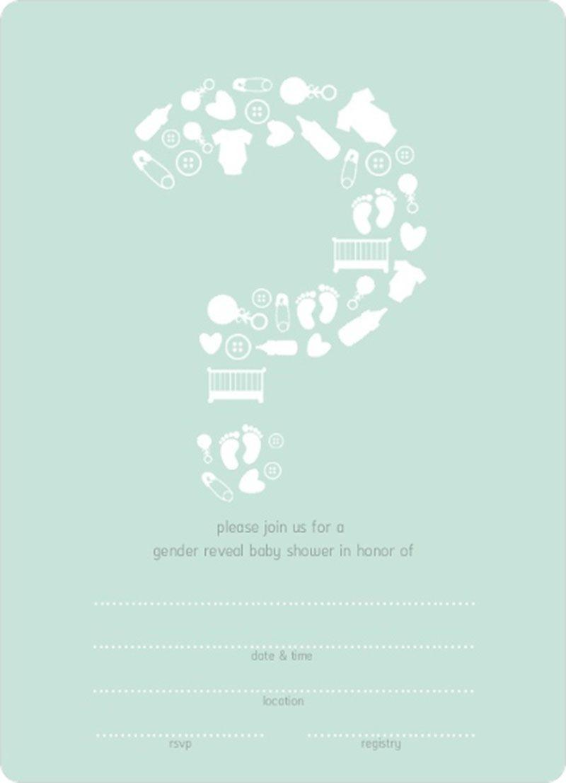 Blank Baby Shower Invitation Template