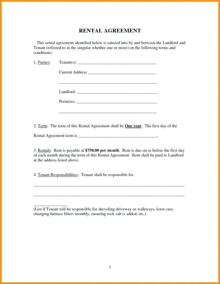 Blank Basic Lease Template