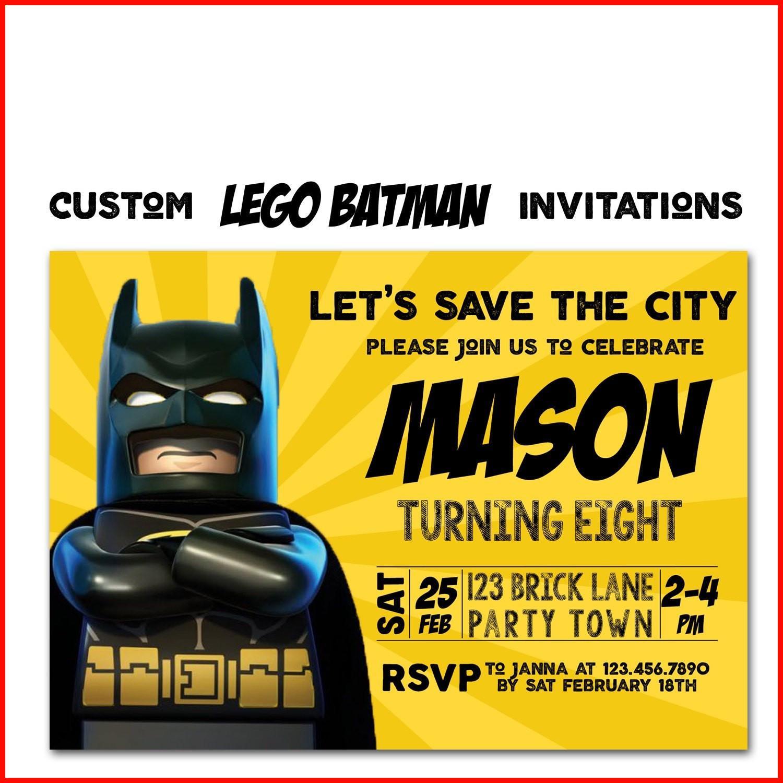 Blank Batman Invitation Template