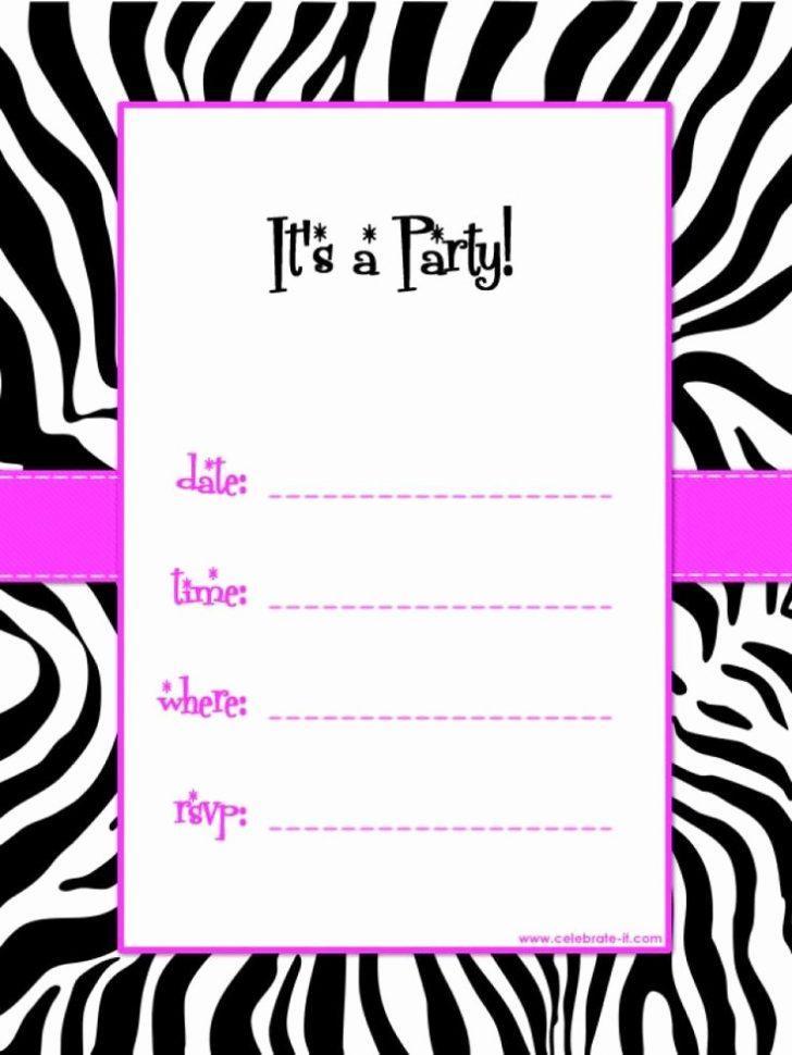 Blank Birthday Party Invitation Templates