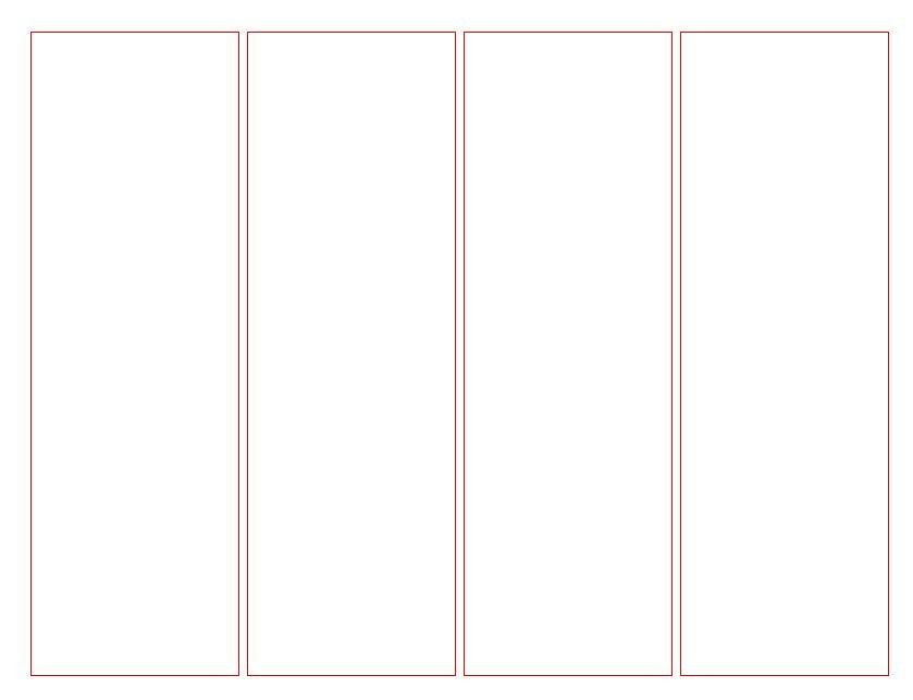 Blank Bookmarks Template
