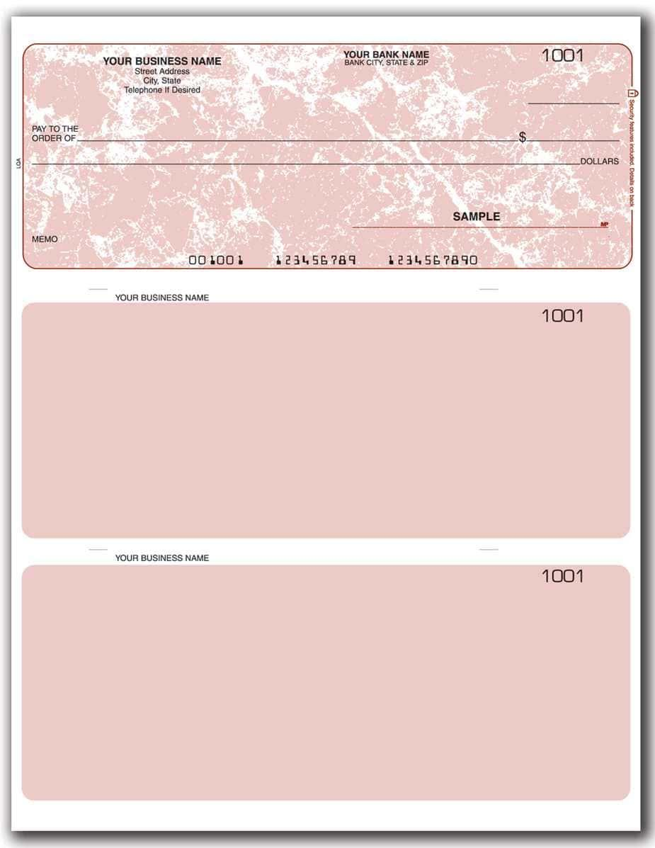Blank Business Check Template Free