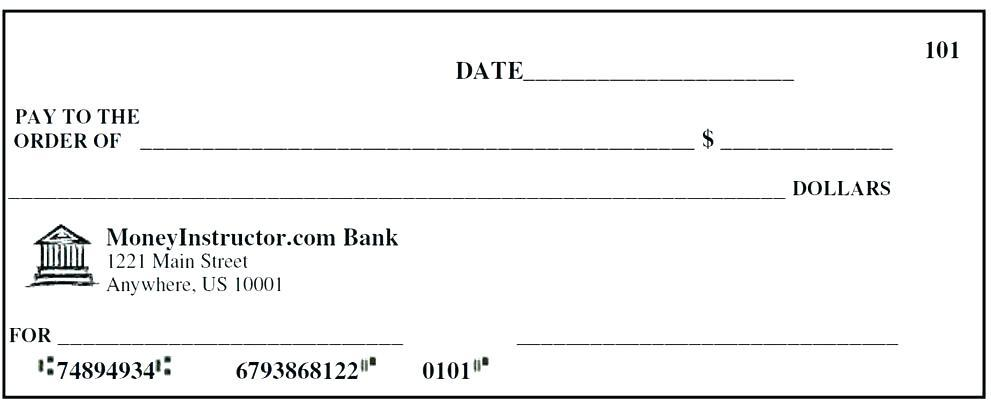 Blank Check Template Word Document Free