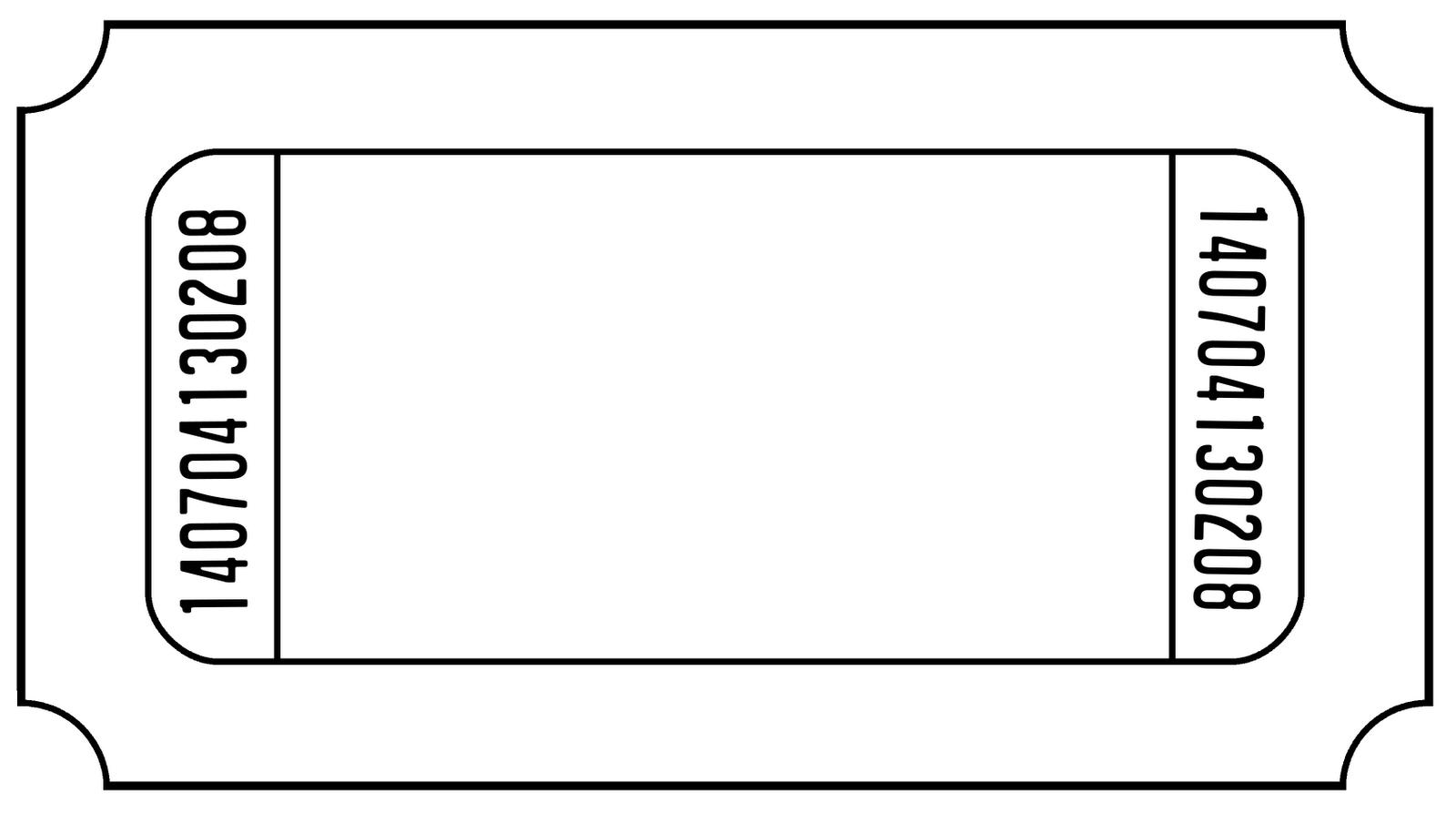 Blank Circus Ticket Template