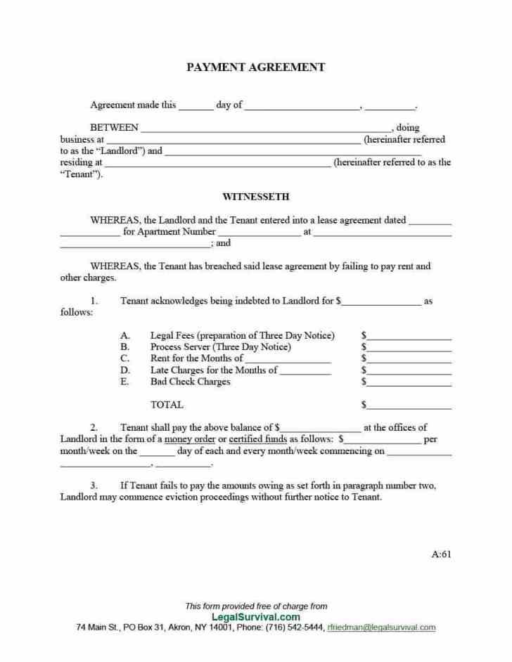 Blank Contract Format