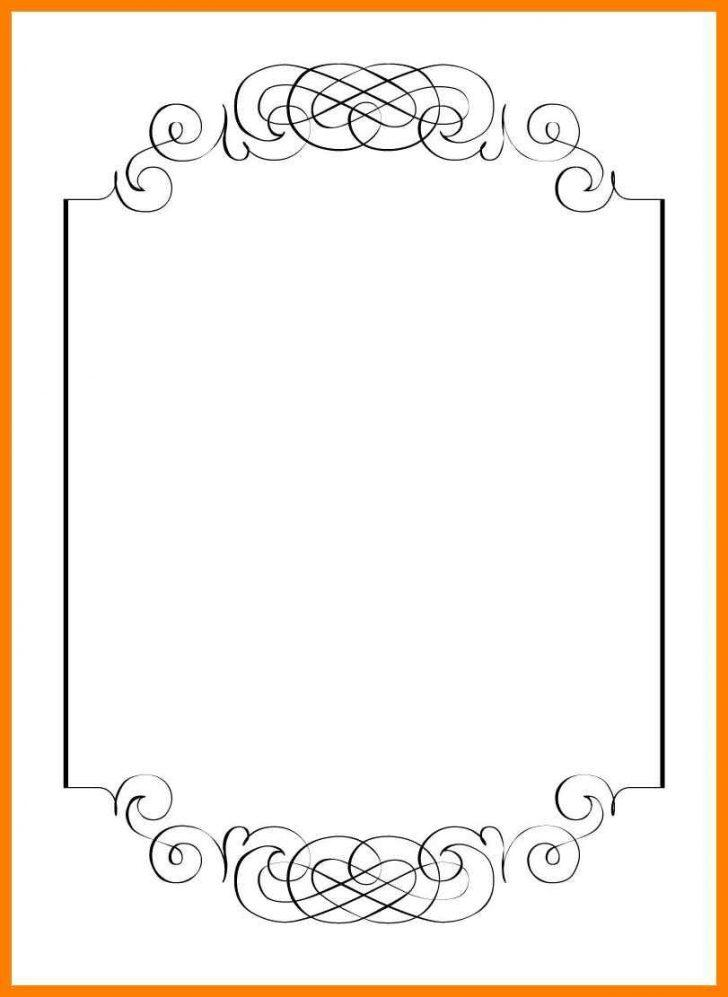 Blank Invitation Card Template