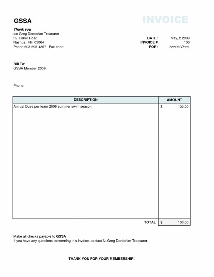 Blank Invoice Template Word Uk