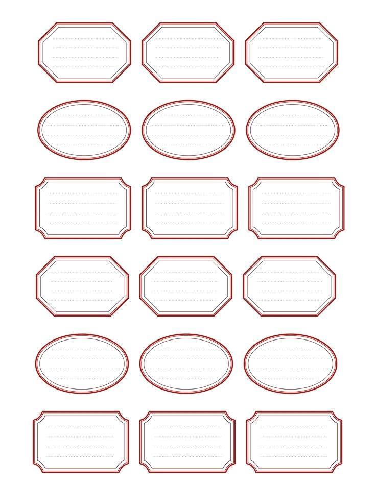 Blank Label Template 6 Per Sheet