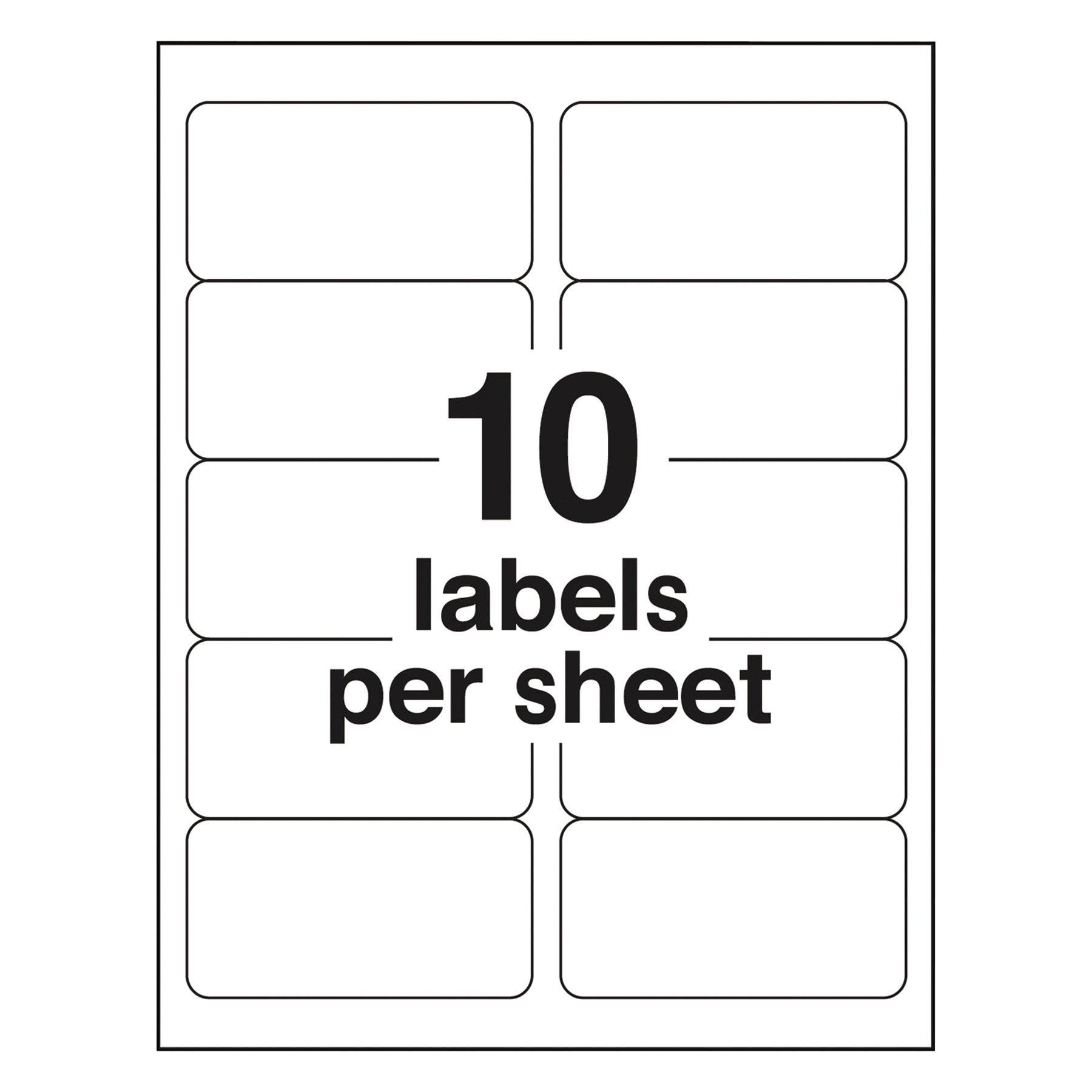 Blank Label Template Avery 5163