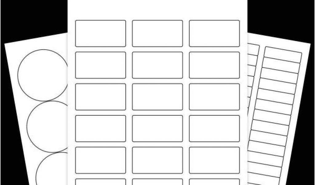 Blank Label Templates 10 Per Sheet