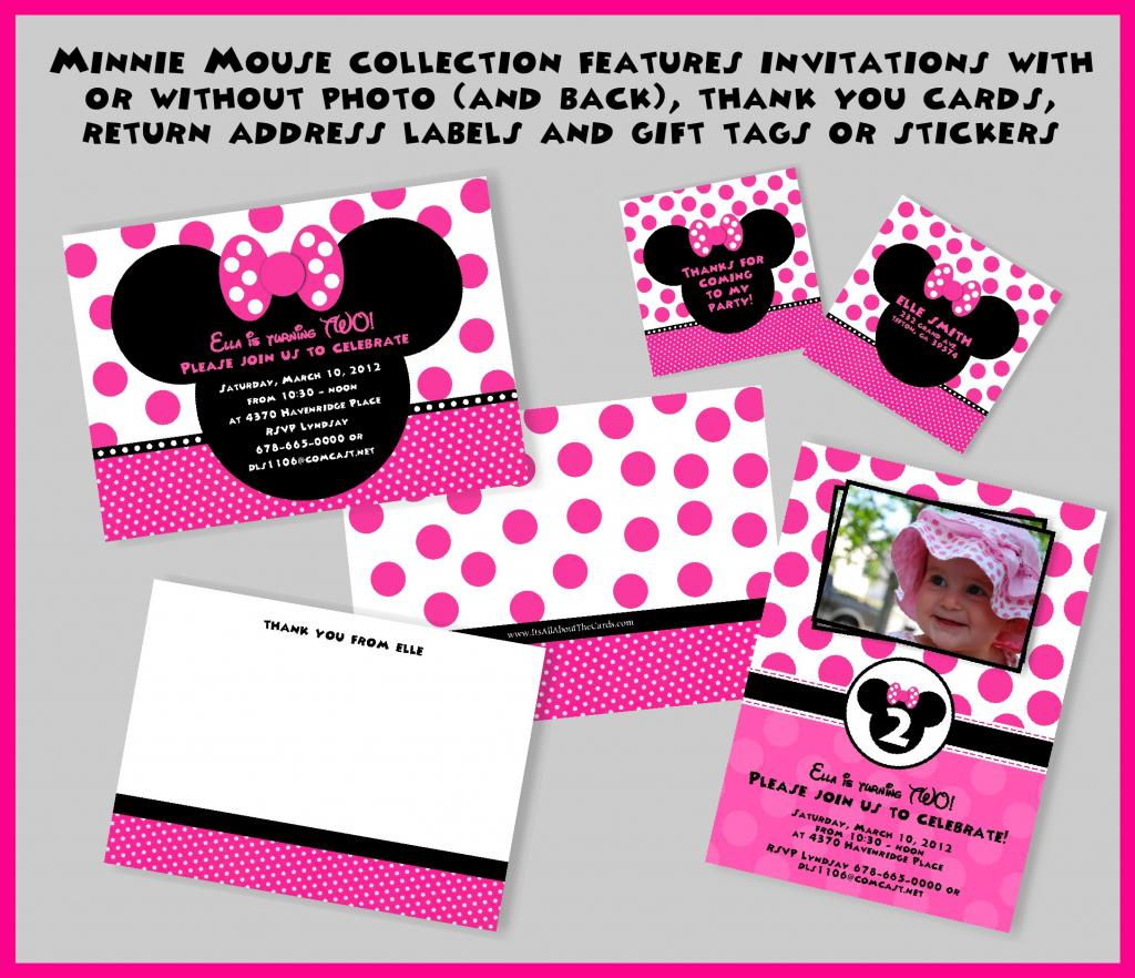 Blank Minnie Mouse Birthday Invitations Templates
