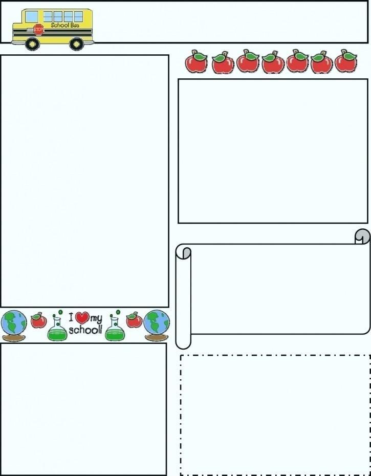 Blank Preschool Newsletter Templates