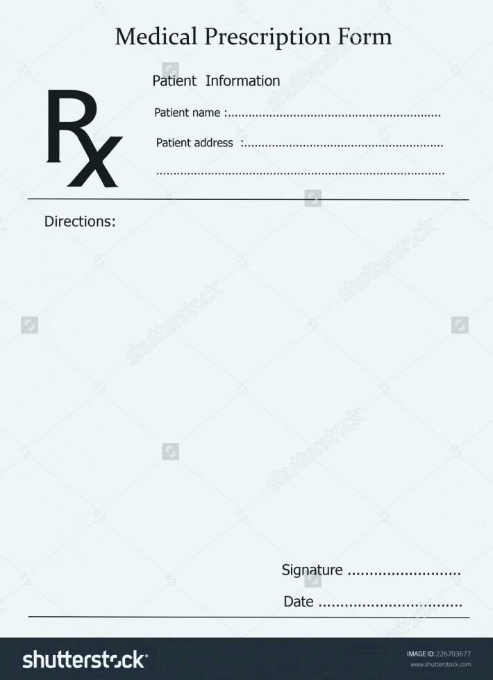 Blank Prescription Pad Template Free Download